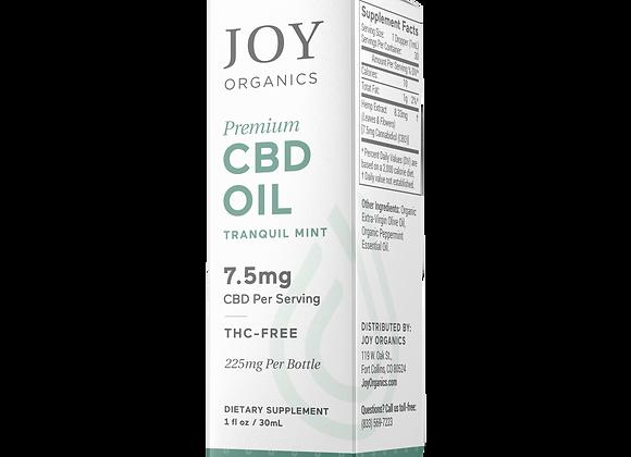 Joy Organics Tincture 250mg/225mg CBD (2 Flavors)