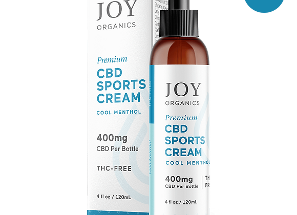 Joy Organics CBD Sports Cream 4 oz, 400mg CBD