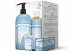 Dr. Bronner's 4-in-1 Baby Unscented Sugar Soap SET