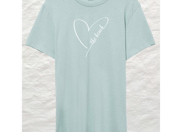 Heart The Beach Organic Cotton T-shirt (Seafoam color)