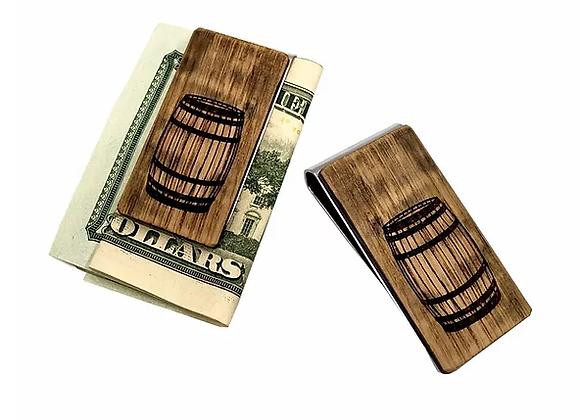 Bourbon Barrel Wood Money Clip