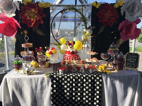 Table sucrée Minnie Mouse