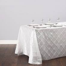 Nappe rectangulaire pintuck blanche