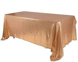 Nappe paillete en or