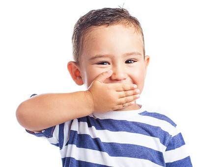 Criança sem medo de dentista