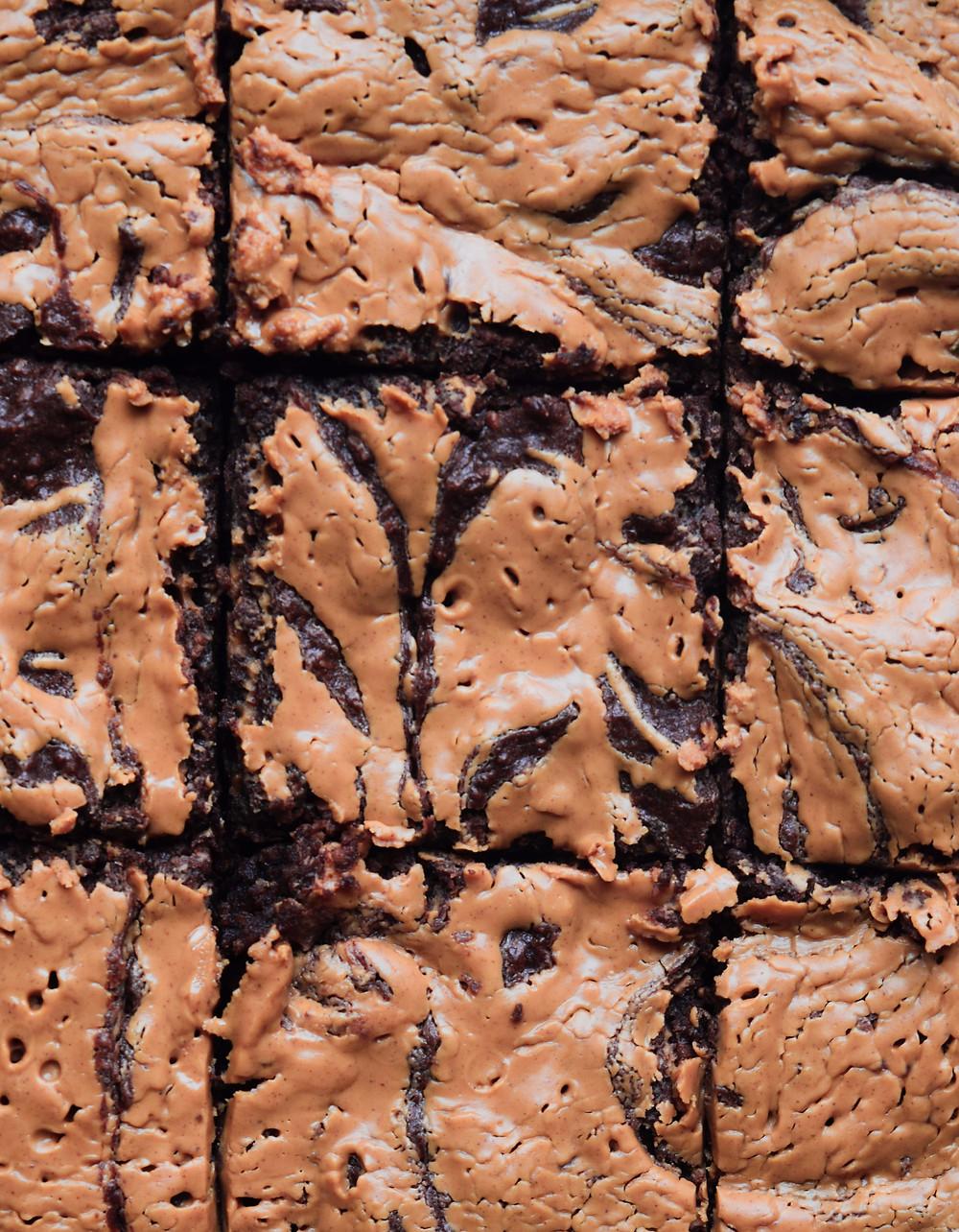 Vegan Peanut Butter Brownies (Gluten-Free)