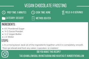 Vegan Chocolate Frosting Recipe Card