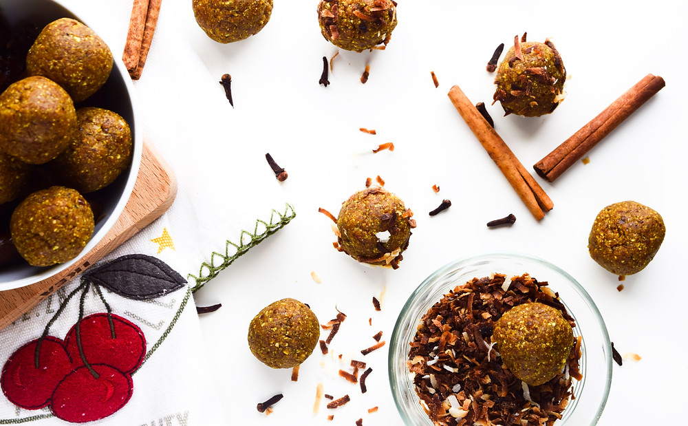 Golden Turmeric Chai Energy Bites
