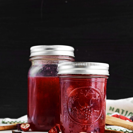 4-Ingredient Cranberry Jam (Vegan & Gluten-Free)