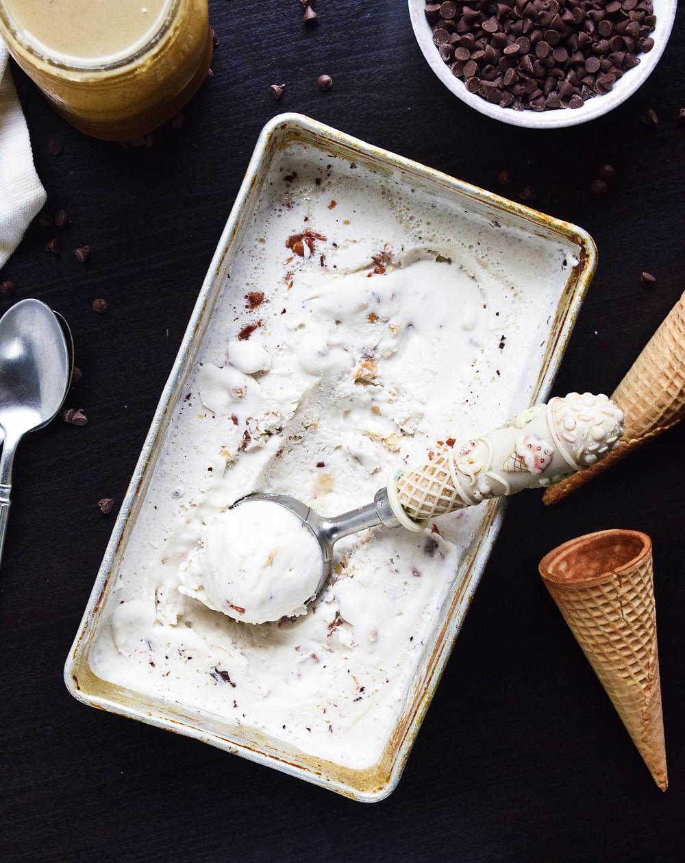 Vegan Turtle Pecan Ice Cream