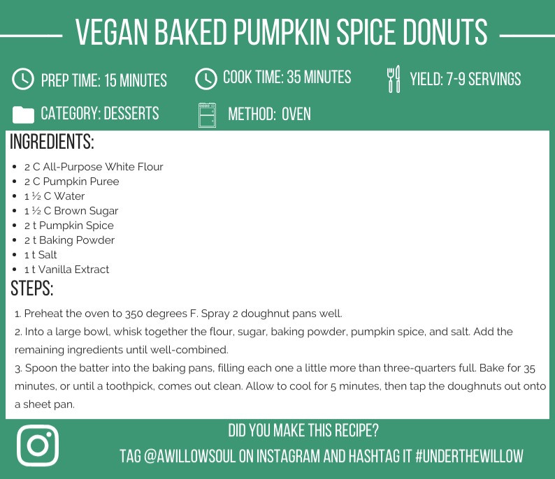 Vegan Baked Pumpkin Spice Donuts Recipe