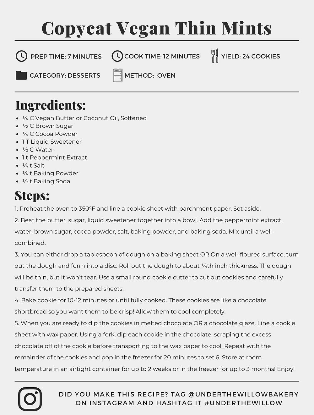 copycat thin mints recipe vegan gluten free easy