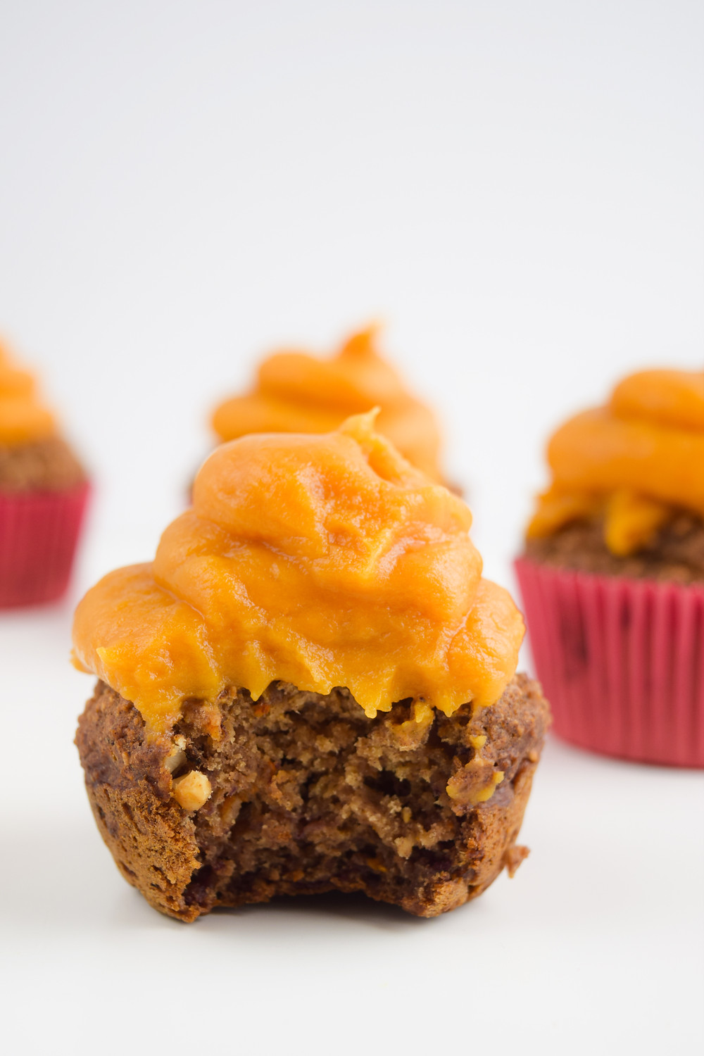 Vegan Carrot Cake Cupcakes with Sweet Potato Frosting