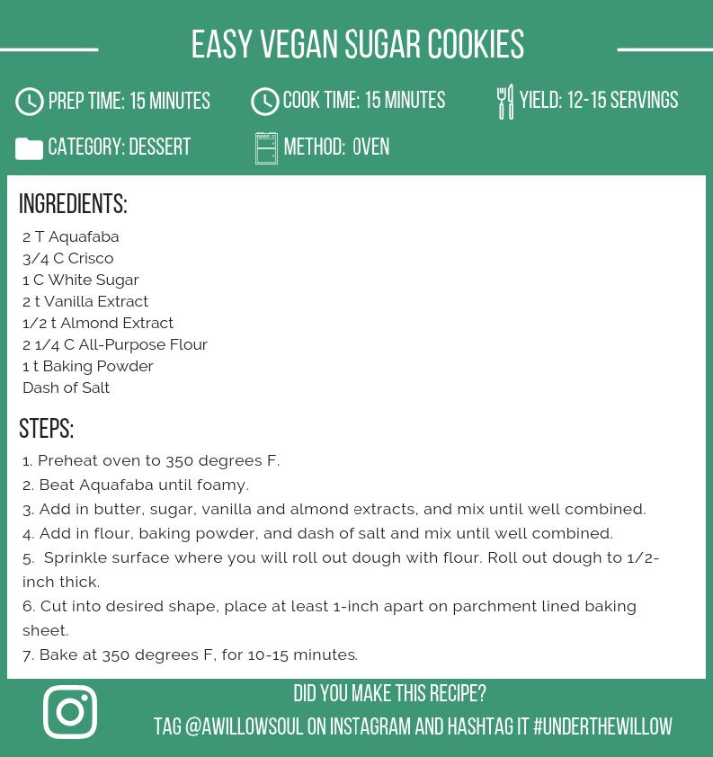 Easy Vegan Sugar Cookies