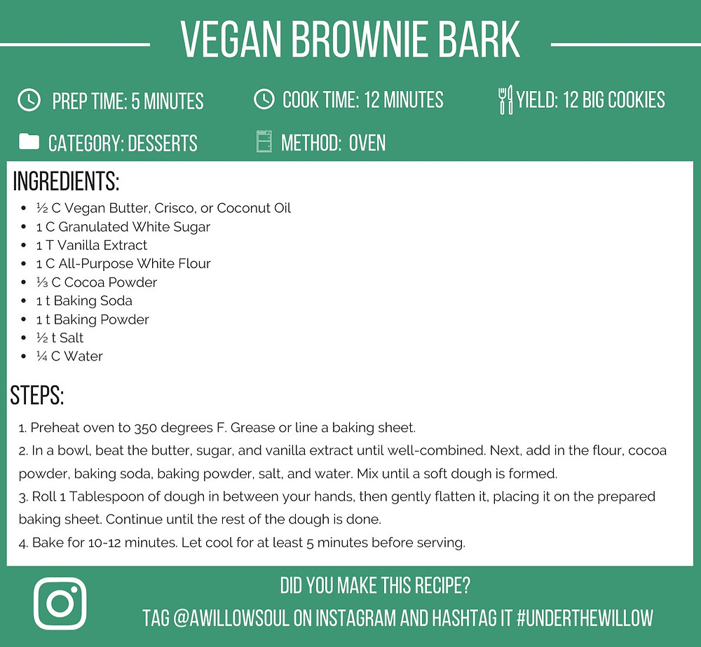 easy vegan brownie bark recipe