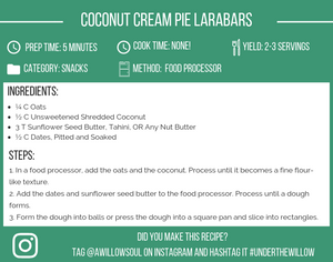 Coconut Cream Pie Larabars Recipe Card
