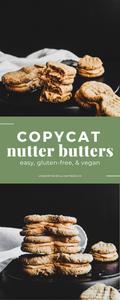 Copycat Nutter Butters (vegan & gluten-free)