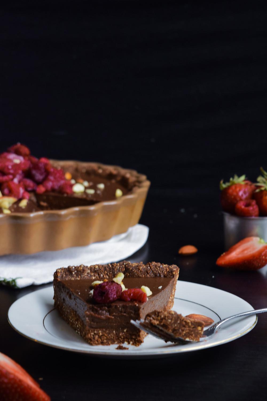 No Bake Vegan Chocolate Tart