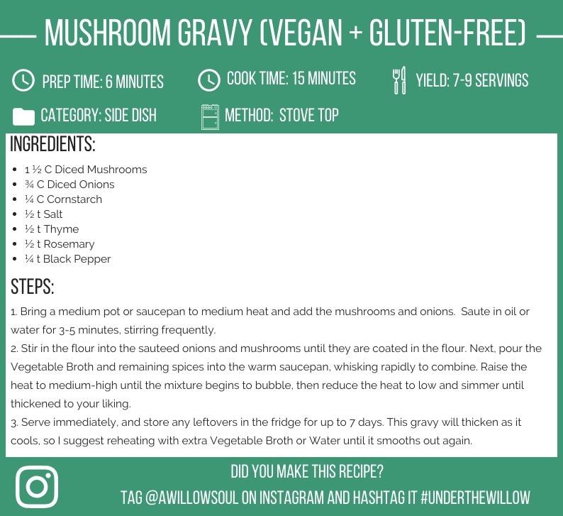 Easy Mushroom Gravy (Vegan + Gluten-Free)