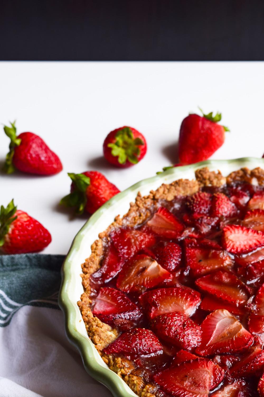 Fresh Vegan Strawberry Pie