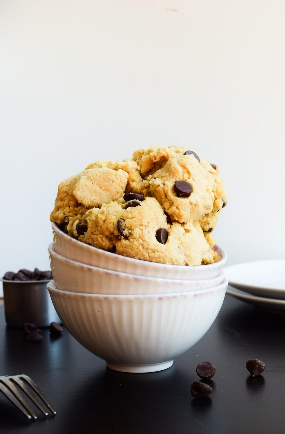 Edible Chocolate Chip Cookie Dough (Vegan, Paleo, Gluten-Free)