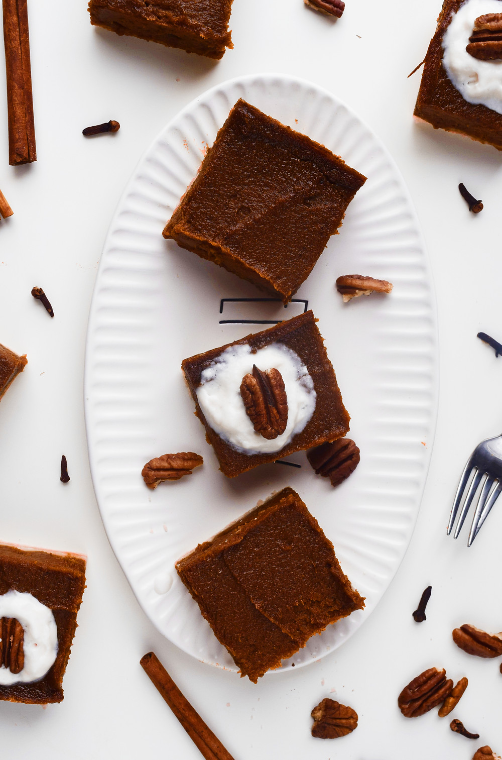 Creamy Vegan Pumpkin Pie Bars