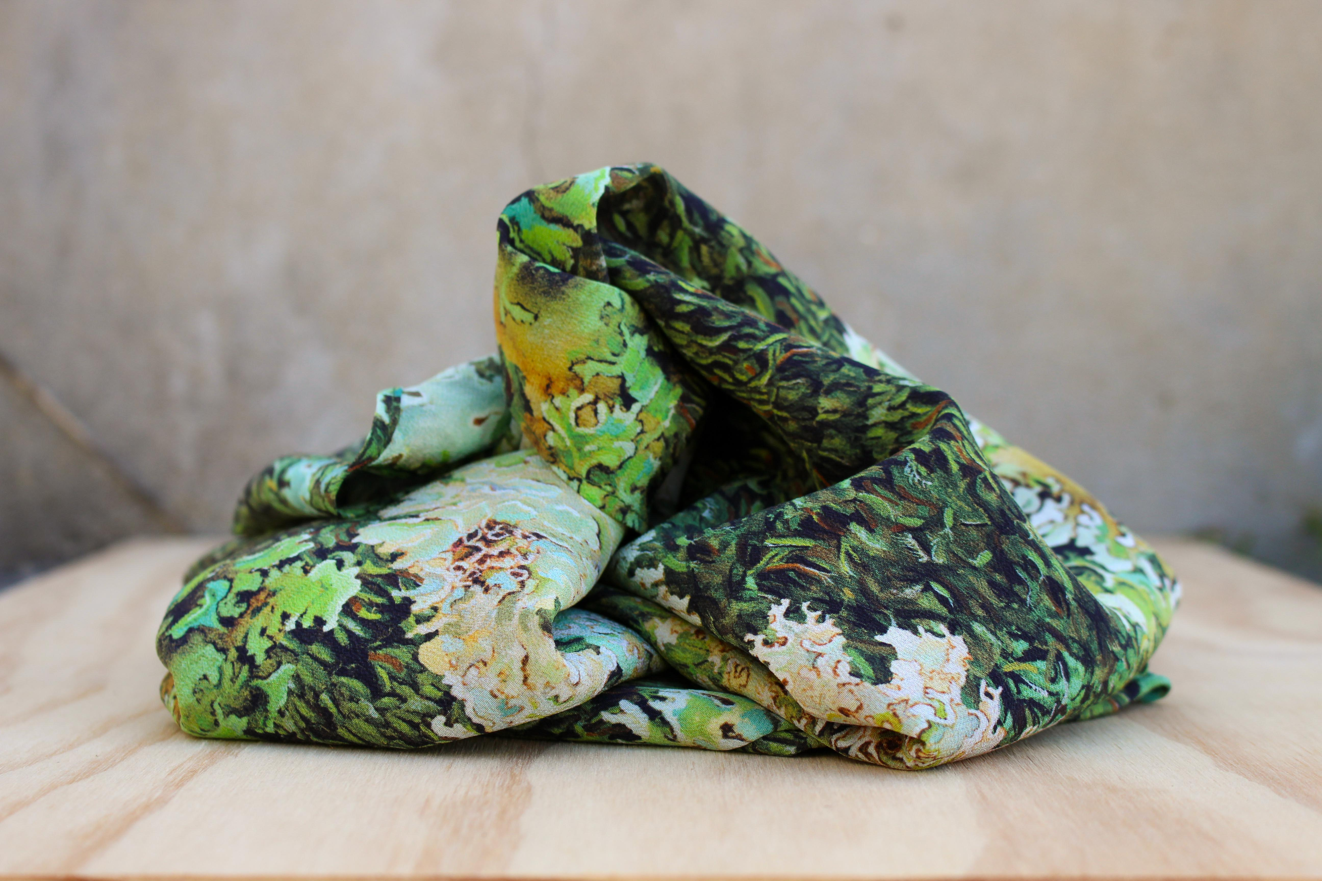 Lichen and Moss Scarf