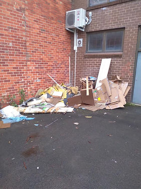 Paper waste removal - before
