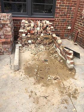 Brick rubbish removal - before