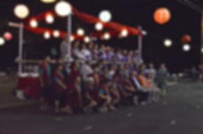 fresno gumyo taiko members and obon odori participants at visalia obon 2014