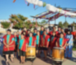 fresno gumyo taiko members at fresno obon odori 2014