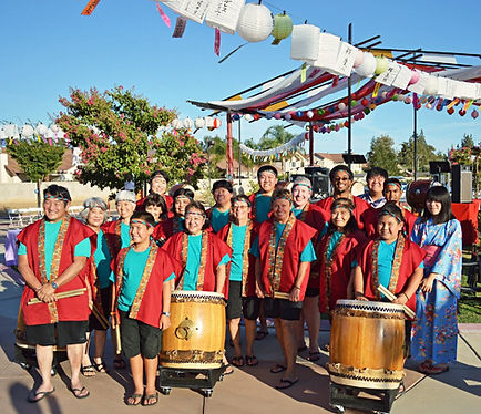 fresno gumyo taiko members at fresno obon odori 2014
