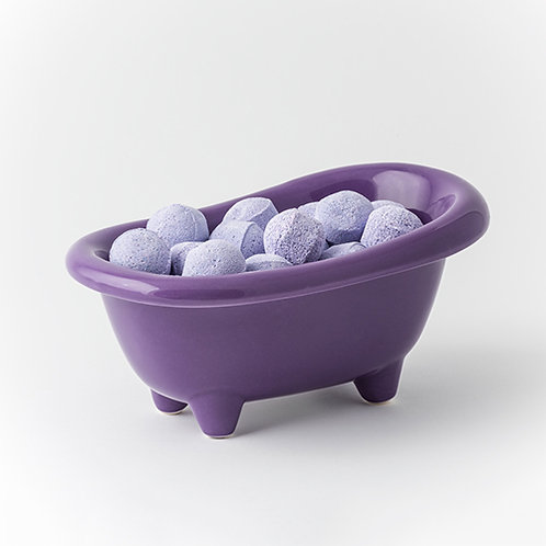 British Cherry Chill Pills - Purple Ceramic Bath Dish
