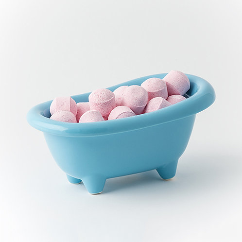 Rose Chill Pills - Blue Ceramic Bath Dish