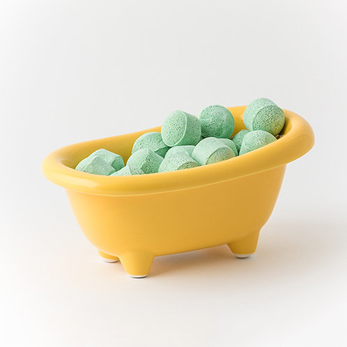 Mango Chill Pills - Yellow Ceramic Bath Dish