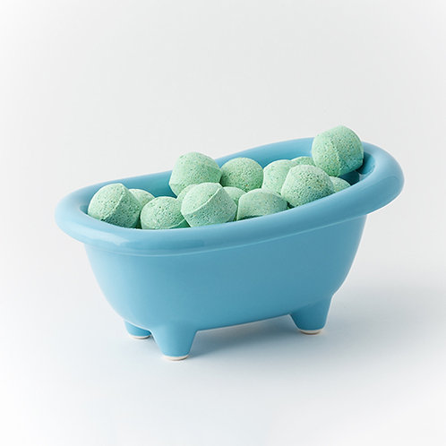 Mango Pills - Blue Ceramic Bath Dish