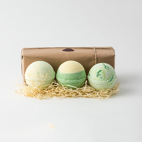 Melon, Apple Pie & Custard & Kiwi Fruit Jumbo Bath Bombs