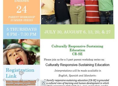 D24 Parent Workshops!