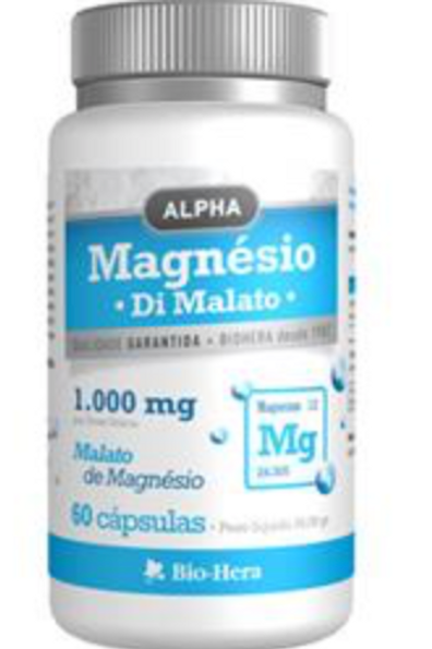 Magnésio (Di malato) 1.000 mg  - 60 Cáp.