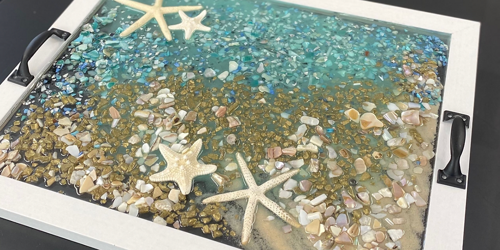 Crafts & Conversation Presents : Resin Art- Let's Create a Bedside Tray 🎨