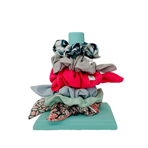 Teal Scrunchie Holder - Short
