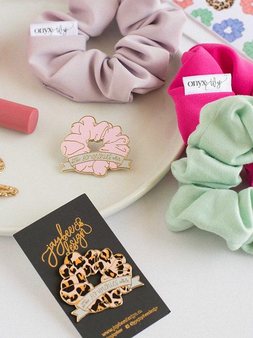 Scrunchie/Pin Set - Collab w/ Jaybee Designs