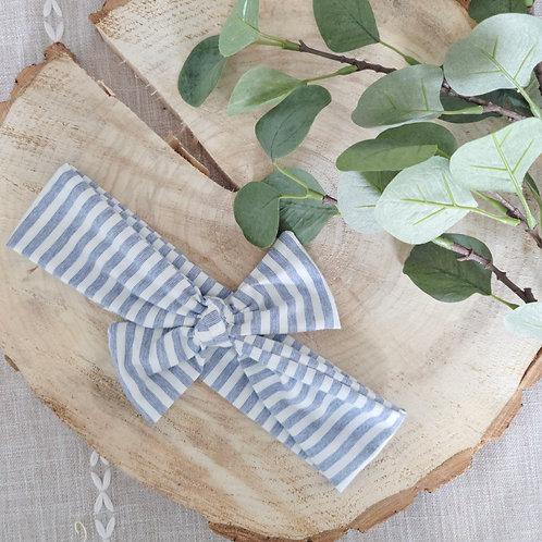 Betty Stripe Little Bow Headband