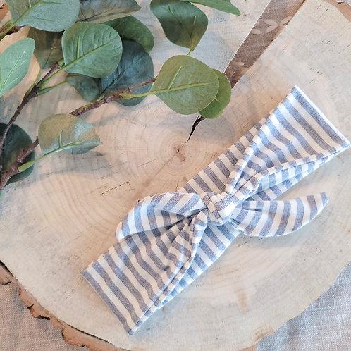 Betty Stripe Little Tie Headband
