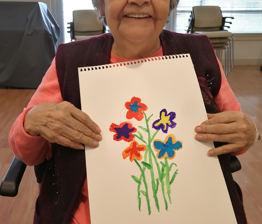 fun art making with seniors
