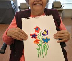 fun art making with seniors