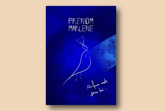 Livret d'Art PRENOM MARLENE - Couverture