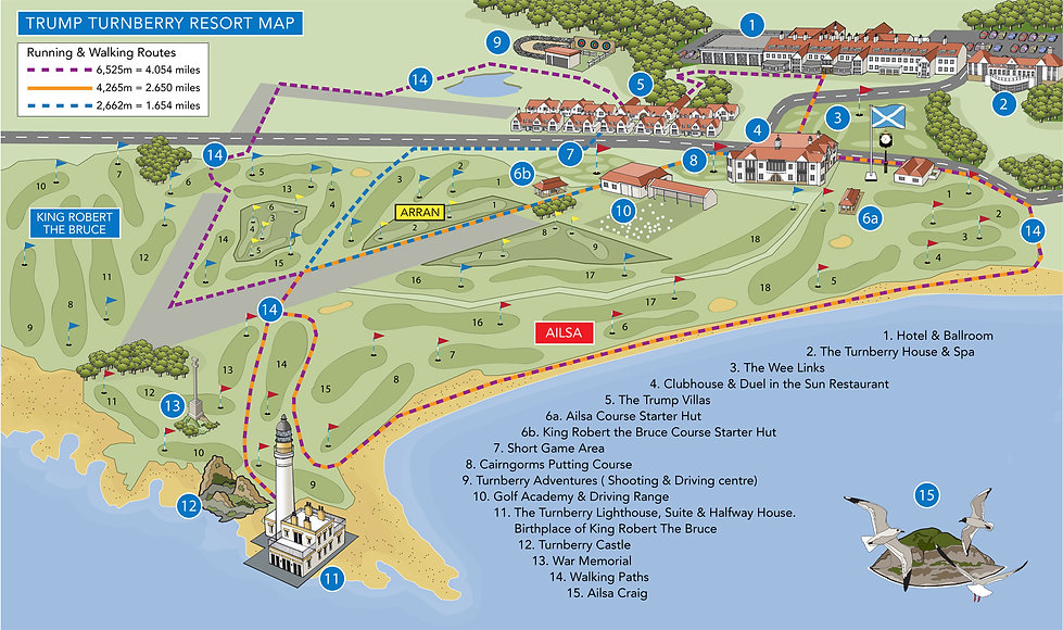 Turnberr Resort Map