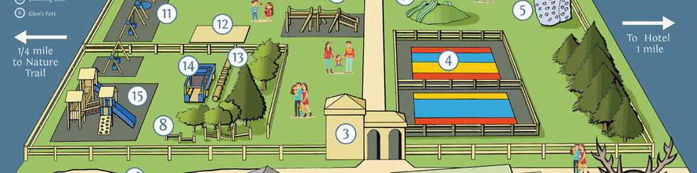 Glen's Adventure park map