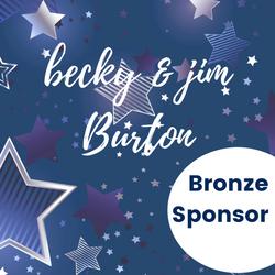 Bronze Sponsor - Becky & Jim Burton